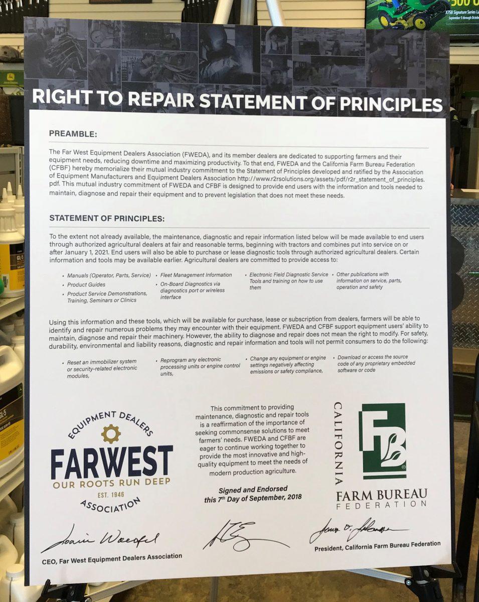 Right to Repair Statement of Principles