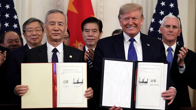 US Chine Phase 1 Trade Deal
