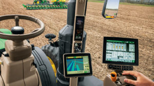 Tractor with GPS