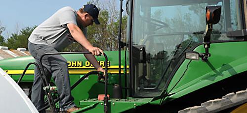 Fueling John Deere Tractor